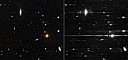 Hubble direct and grism observations