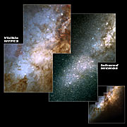 Hubble spies huge clusters of stars formed by ancient encounter