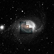 Ground-based view of NGC 1512 (WFPC2 overlay)