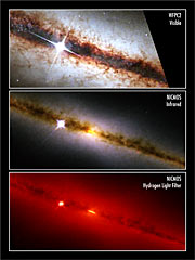 NICMOS finds a golden ring at the heart of a galaxy