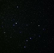 Constellations Ursa Major and Ursa Minor (ground-based image)