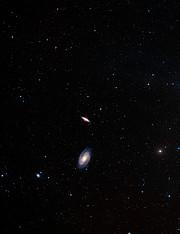 Digitized Sky Survey 2 image of M82 and M81 (ground-based image)