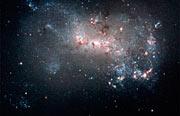 Stellar fireworks are ablaze in galaxy NGC 4449