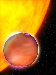 Artist's Concept of Extrasolar Planet's Hazy Atmosphere