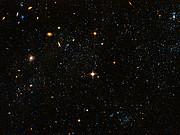 "Hubble Space Telescope visible light image ""blue blobs"""