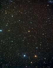 A wide-field view of the constellation of Indus (ground-based image)