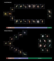 The evolution of the Hubble sequence