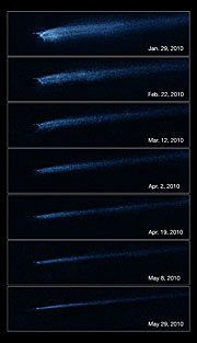 Hubble captures aftermath of asteroid collision