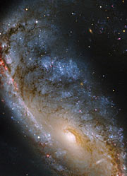 Hubble image of the Meathook Galaxy