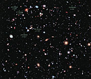 The Hubble eXtreme Deep Field (annotated)