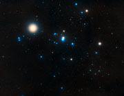 Overview of the Hyades star cluster (ground-based image)