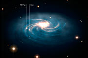 The location of RS Puppis within the Milky Way (artist's impression)
