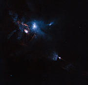 Jets, bubbles and bursts of light in Taurus