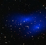 Galaxy cluster MACS J0152.5-2852 with dark matter map