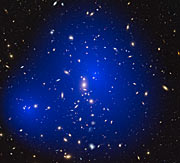 Galaxy cluster ZwCl 1358+62 with dark matter map