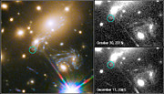 Third appearance of the Refsdal supernova