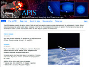 Screenshot of the APIS website