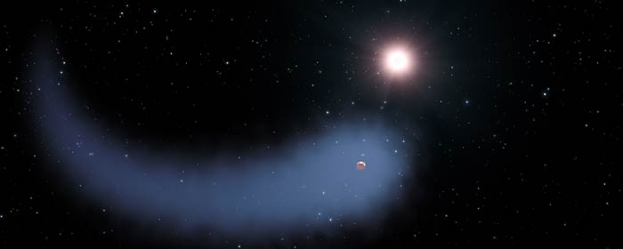 Exoplaneten Gliese 436b strippes for atmosfære