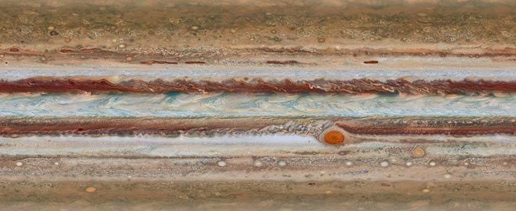 Jupiter 2015 fotograferet af Hubble