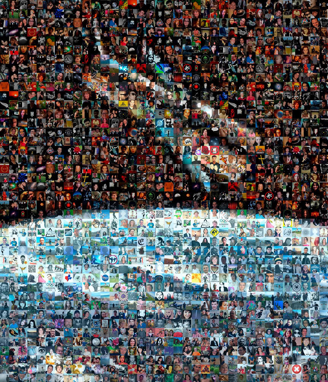 Mosaic: 100 000 Facebook friends