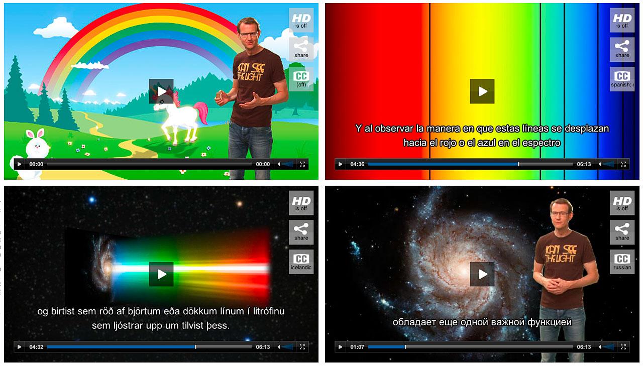 Screenshots of Hubblecast players