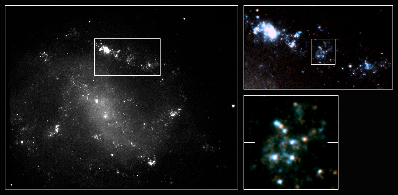 First high-resolution details in gamma-ray burst host galaxy