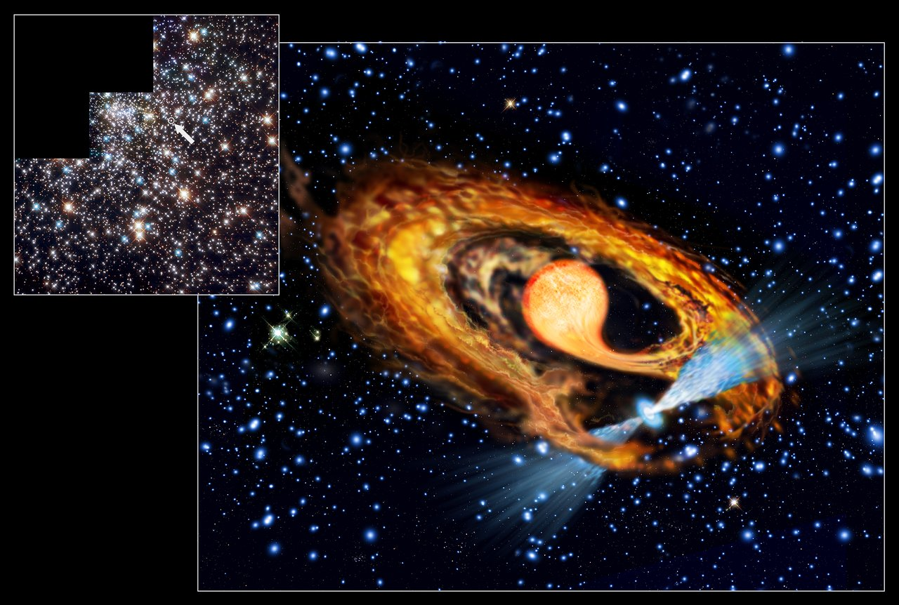 First view of a newborn millisecond pulsar?