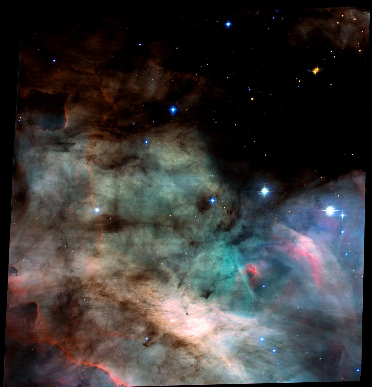 Omega Nebula Swan Nebula M17 Acs Full Field Image Esa