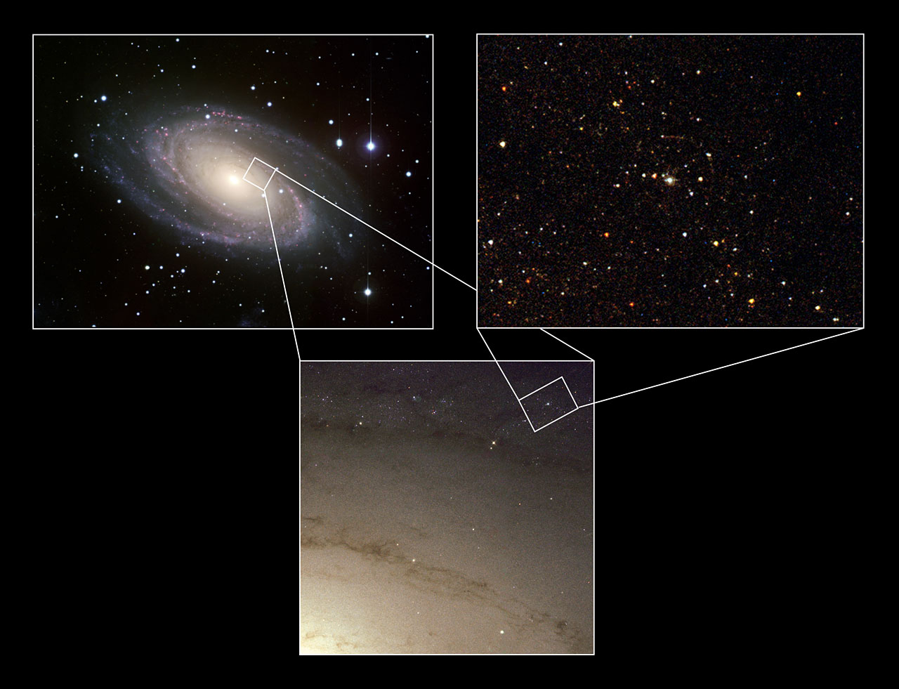 The site of the Supernova 1993J explosion (composite)