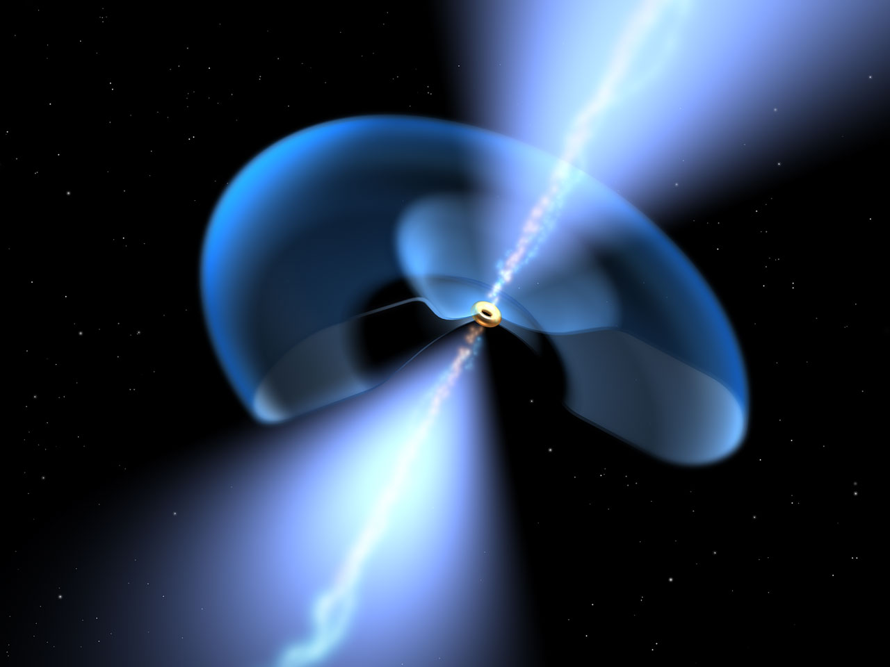 Dissecting a dusty black hole (artist's impression)