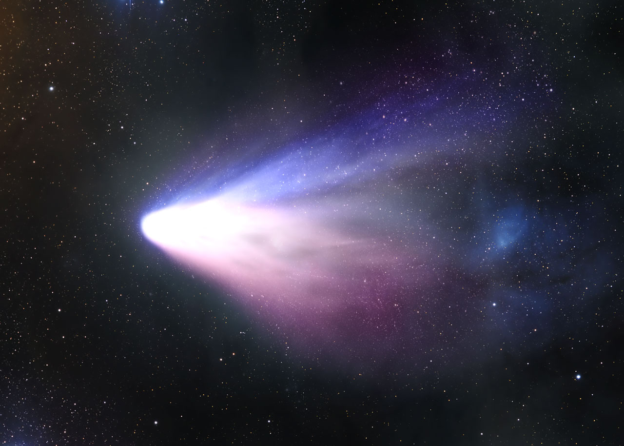 Comet Tempel 1 seen from the Distance [artist's impression]