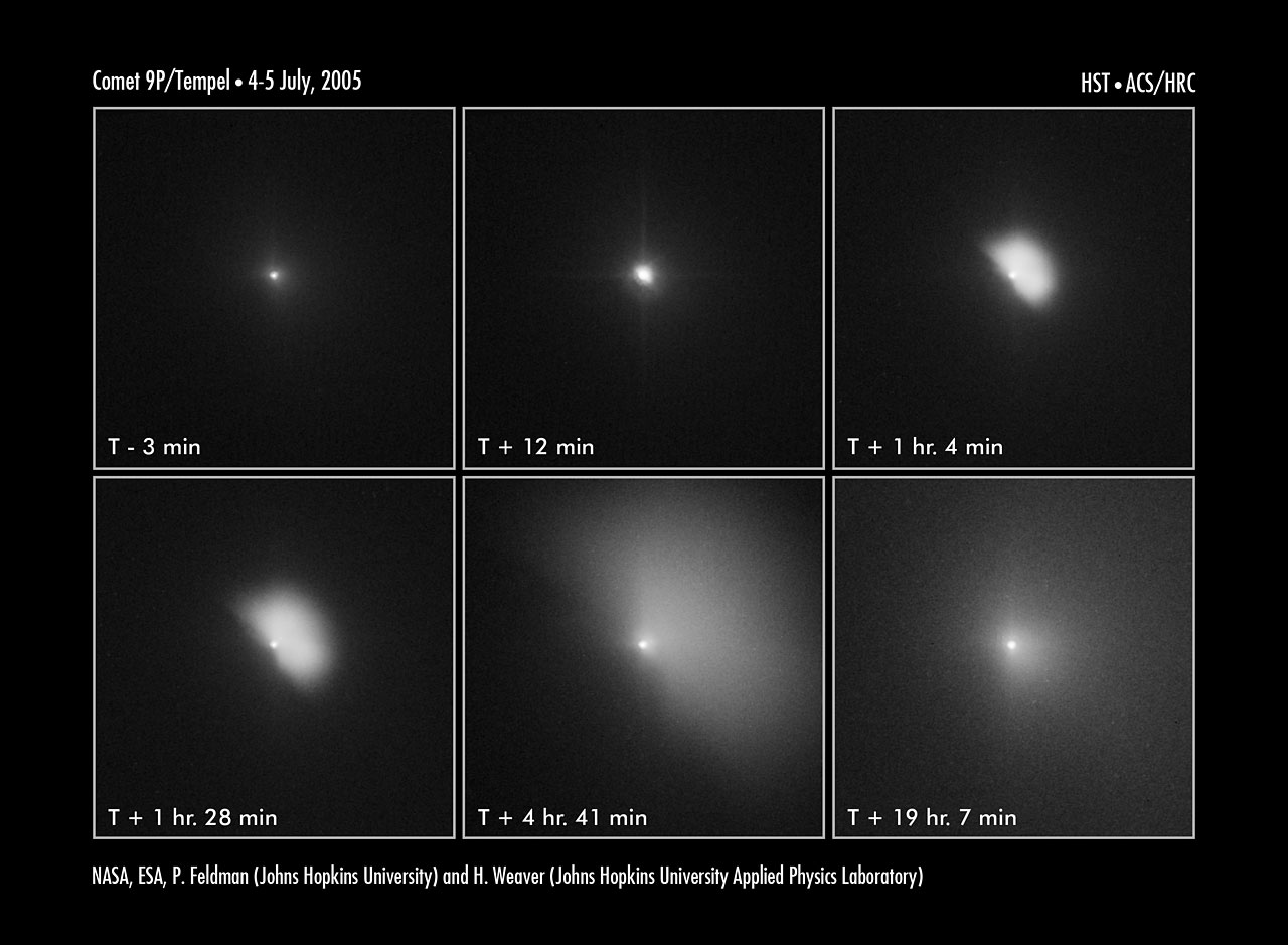 Hubble captures Deep Impact's collision with a comet