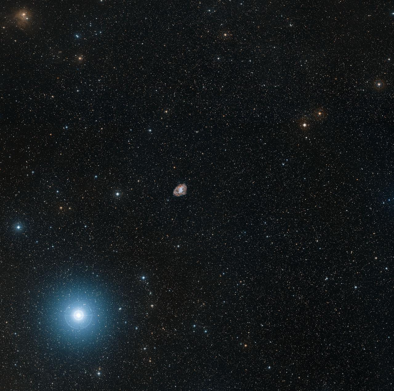 Digitized Sky Survey 2 image of the Crab Nebula (ground-based image)