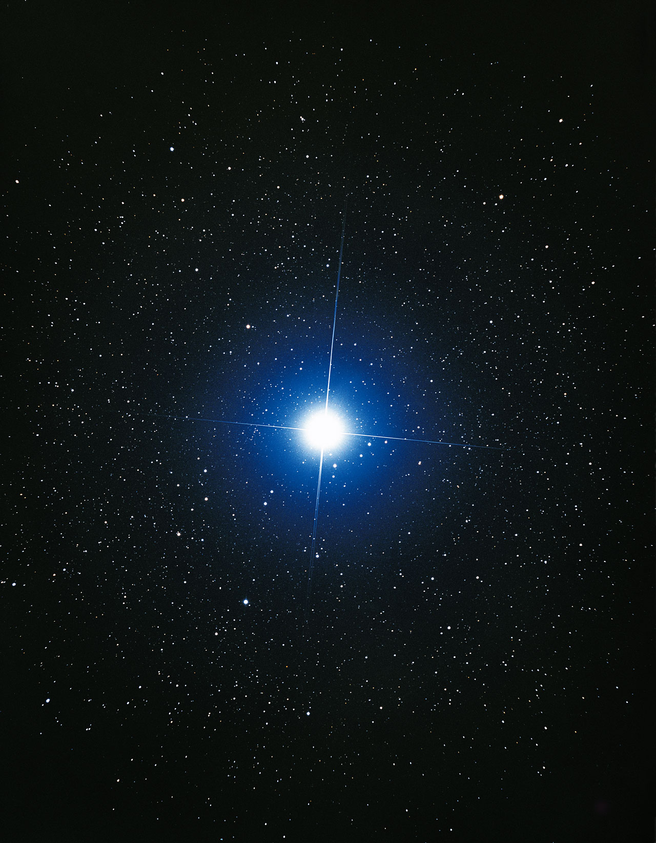 Ground-based image of Sirius (ground-based image)