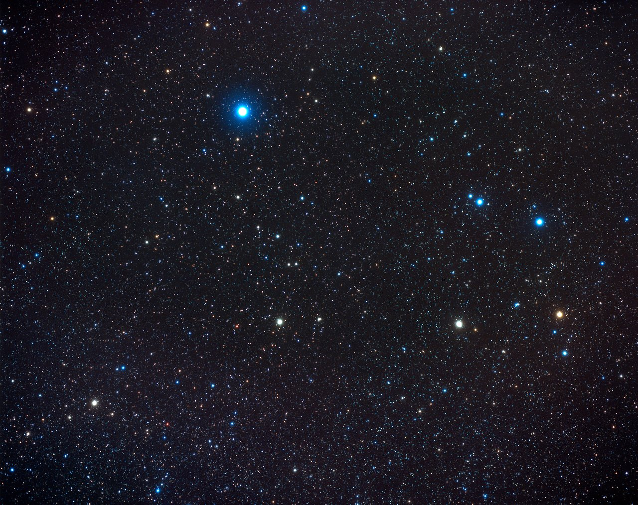 Constellation Corvus (ground-based image)