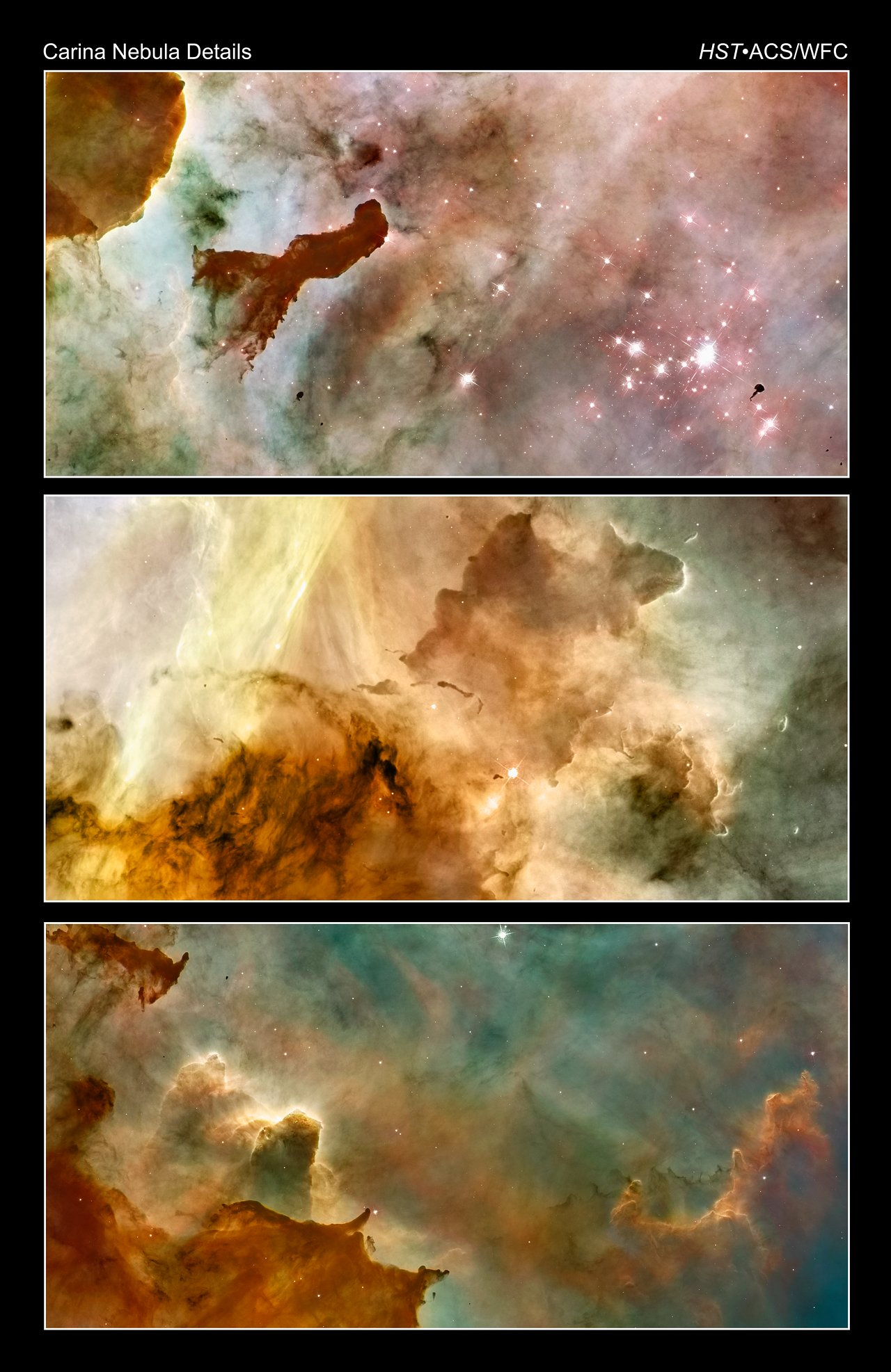Carina Nebula landscapes