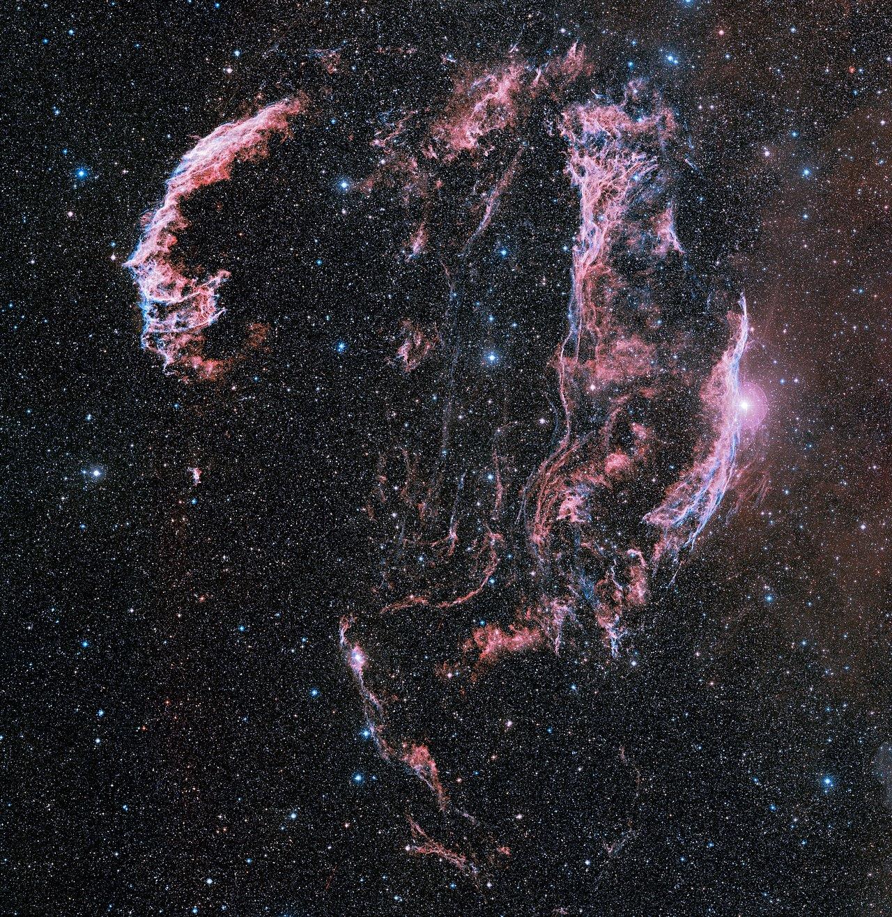 Wide-field ground-based astrophoto of the Veil Nebula