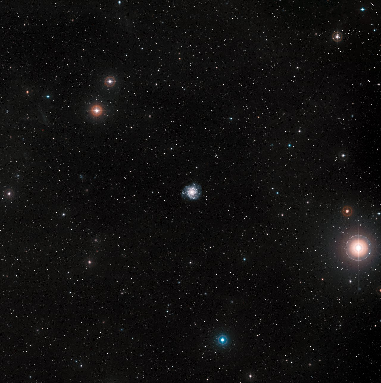 The Phantom Galaxy M74 from the DSS (ground-based image)
