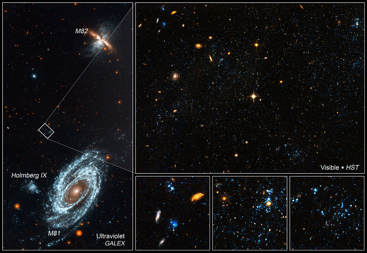 Location of the blue blobs in galaxy group