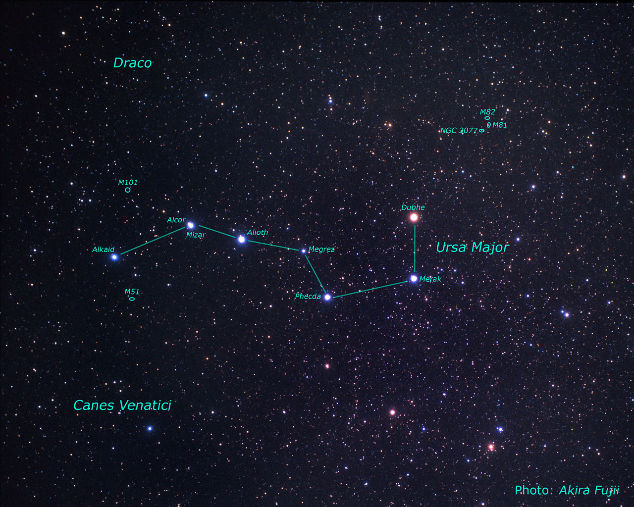 Location of the M81/M82 galaxy group on the sky (ground-based image)