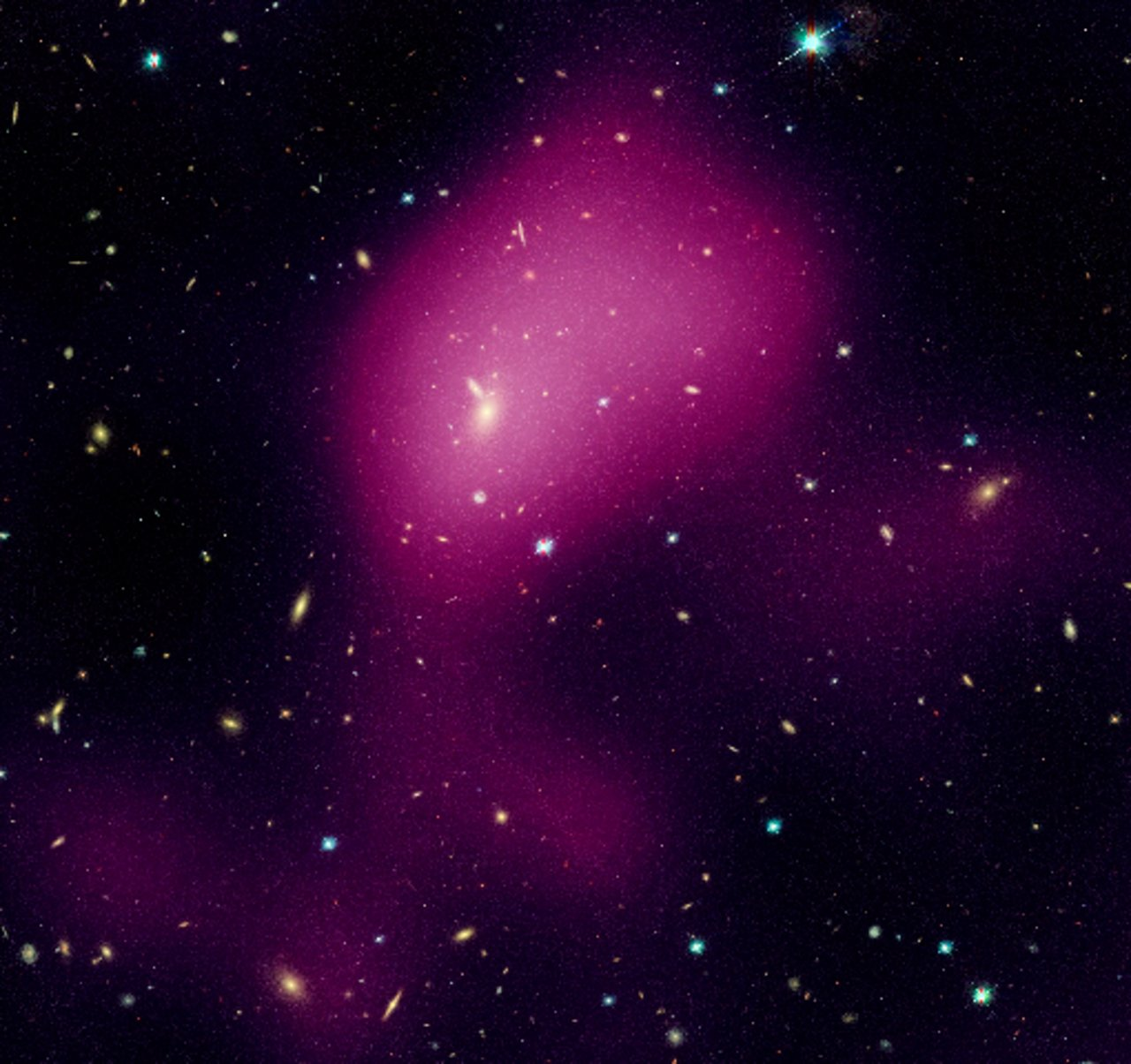Hubble maps dark matter web in a large galaxy cluster (individual image 3)