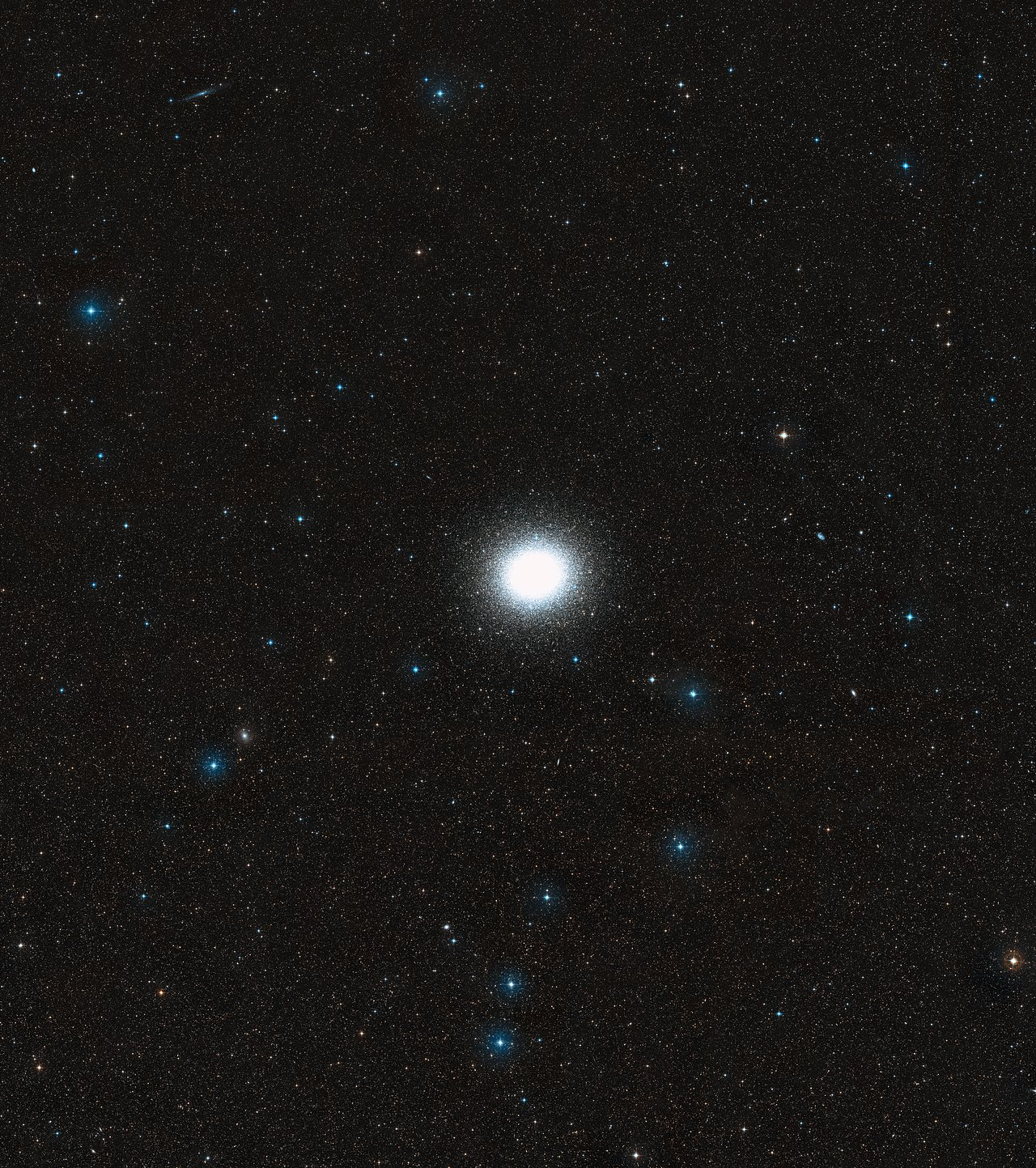 Wide-field of Omega Centauri and its surroundings (DSS2, ground-based image)