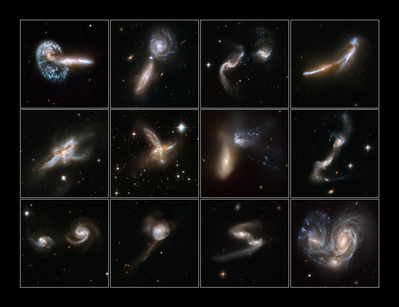Galaxies Gone Wild! - Top 12 images