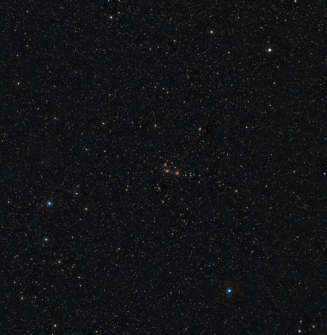 The Perseus Cluster (DSS2 excerpt, ground-based image)