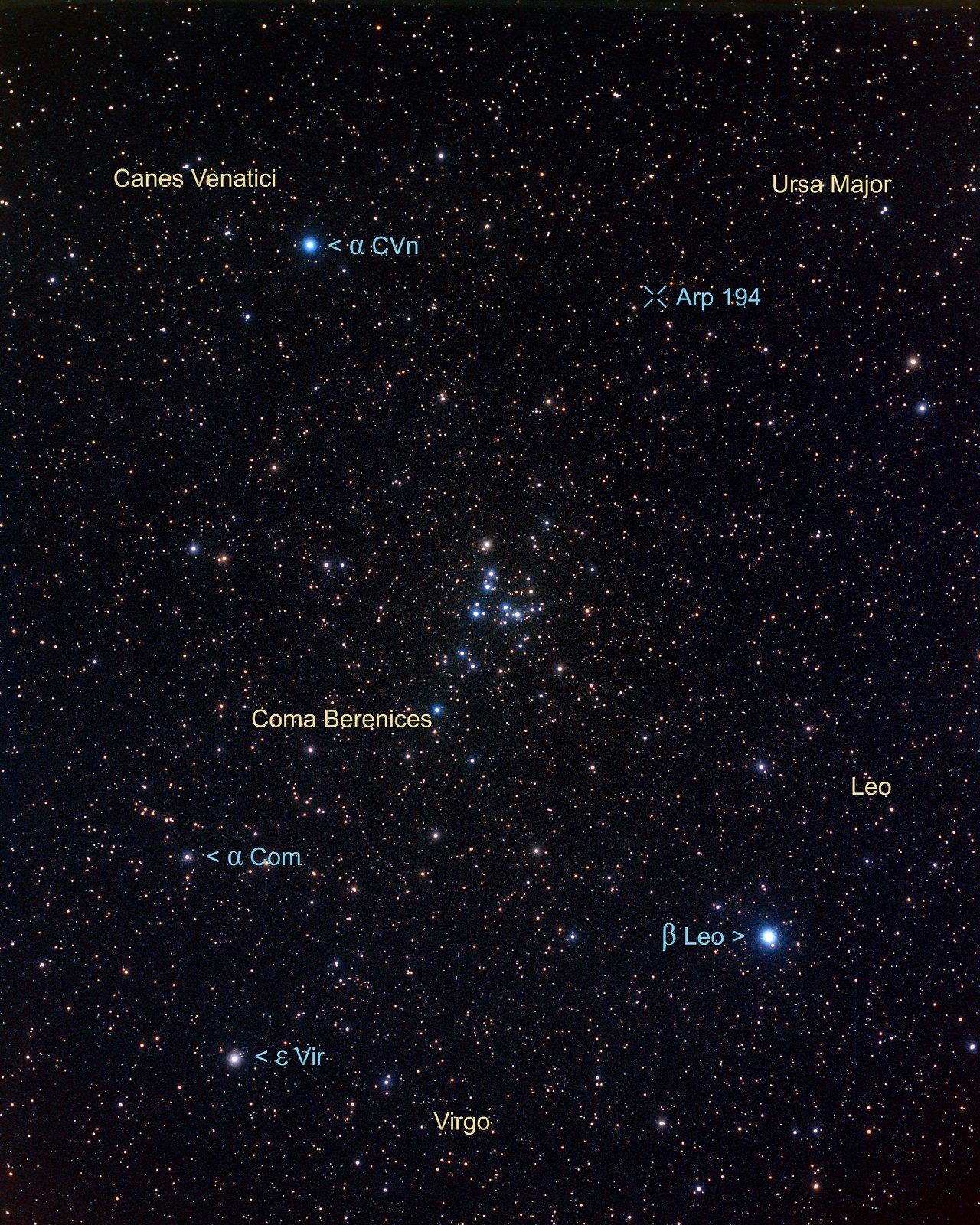 Constellation region near Arp 194 (ground-based image)