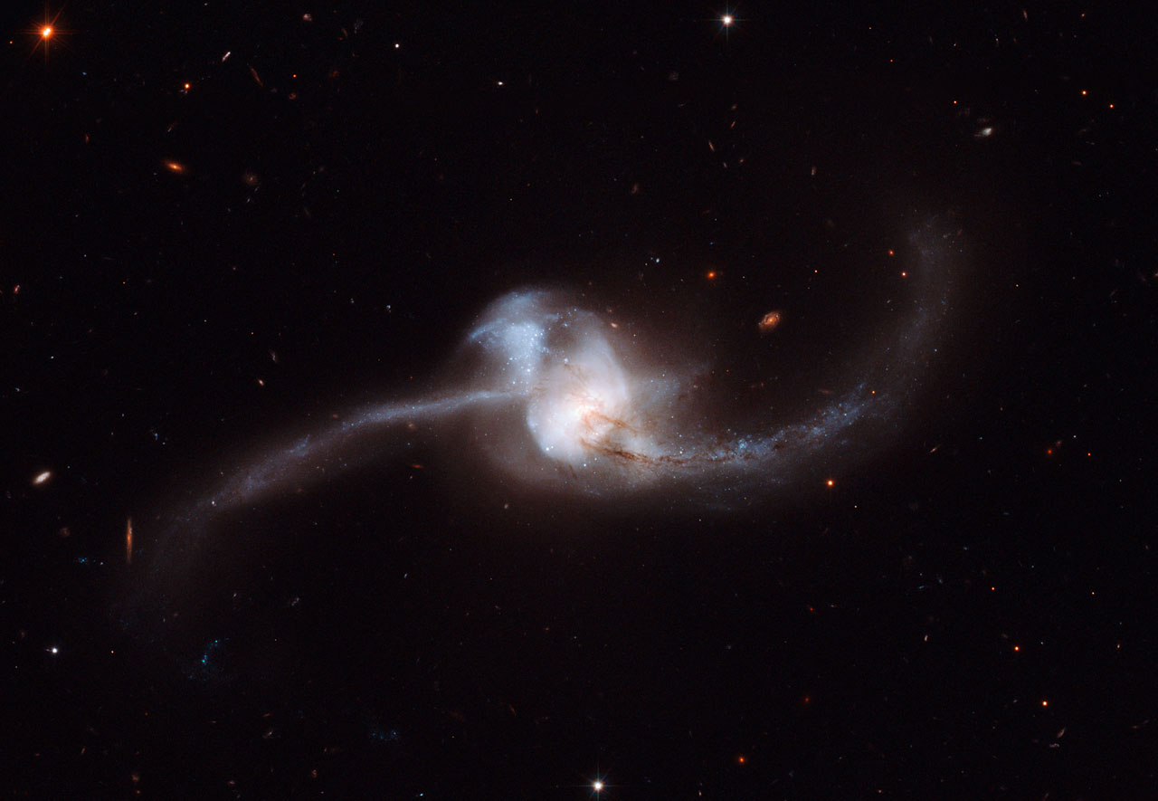 Hubble views results of NGC 2623 merger