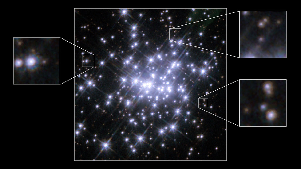 Comparison of Hubble observations of the massive compact star cluster in NGC 3603 in 1997 and 2007