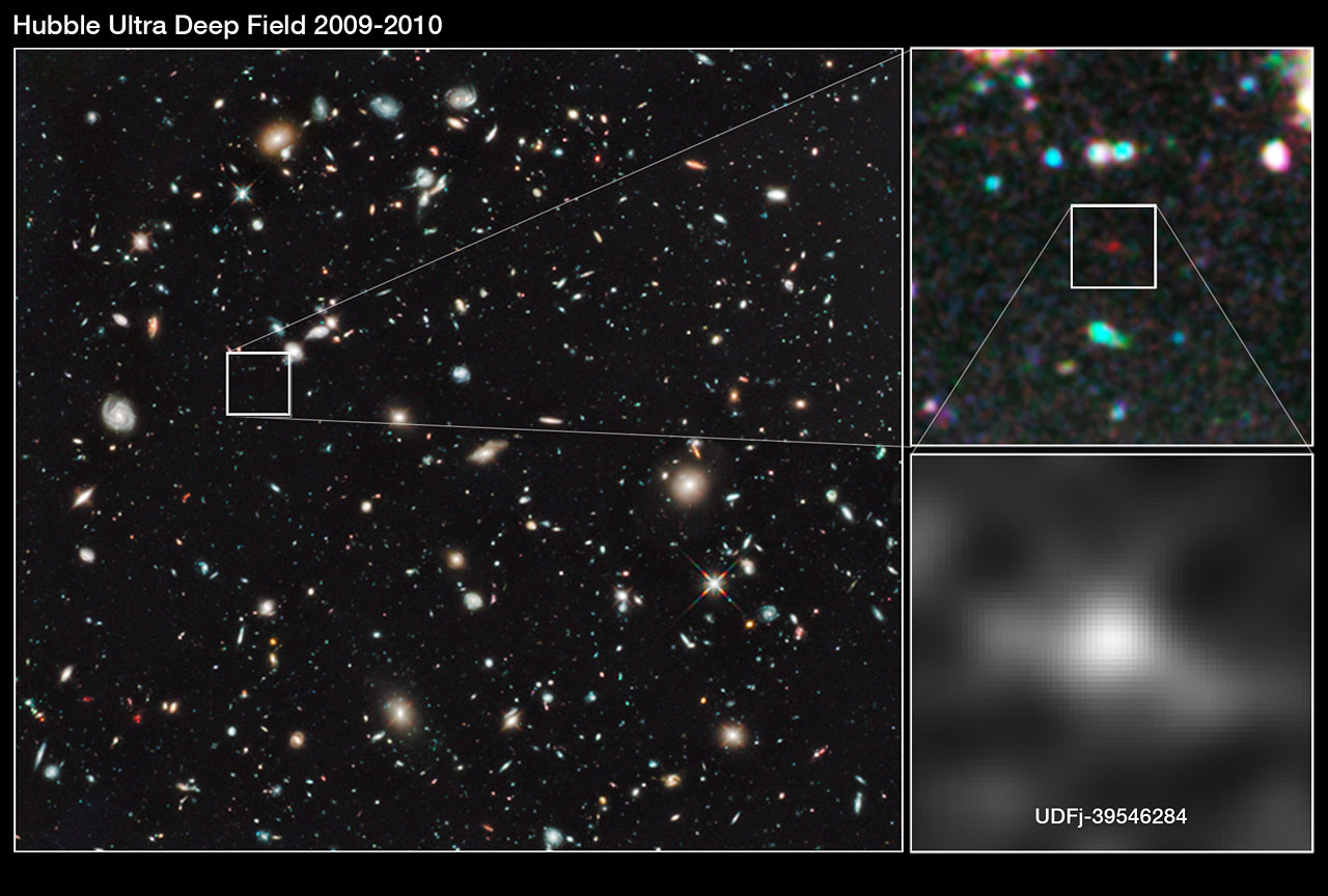 Hubble finds a new contender for galaxy distance record