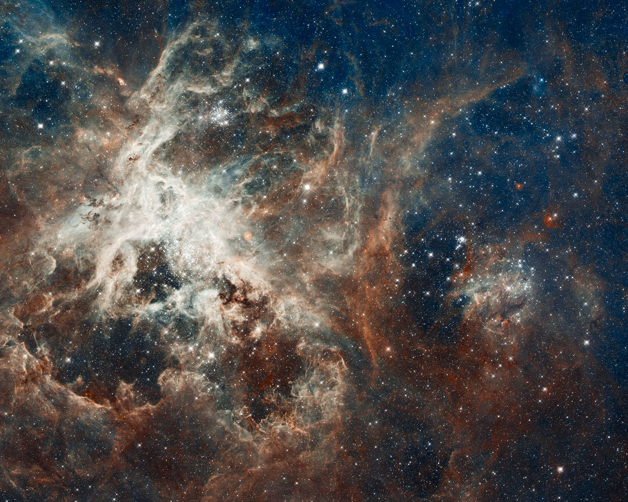 Hubble's panoramic view of a star-forming region