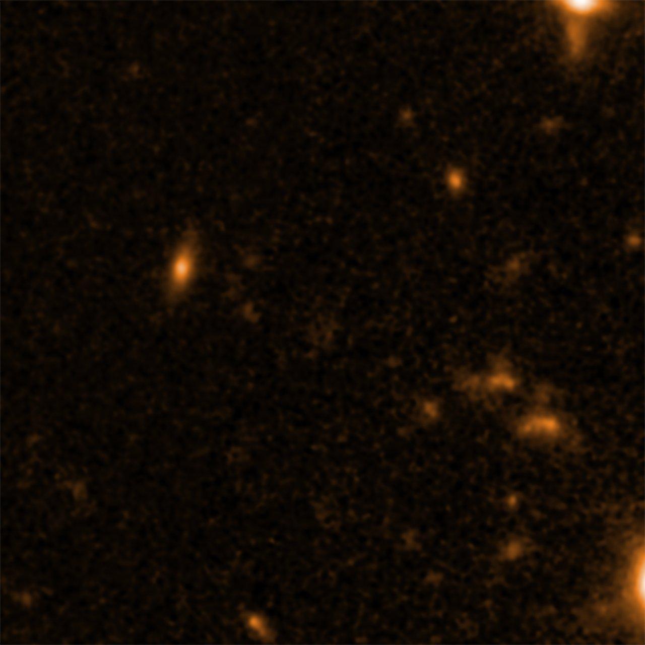 Supermassive graine de trou noir vu par Hubble